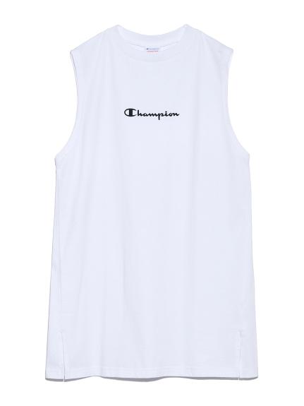 【FRAY I.D×Champion】ロゴロングタンク(WHT-F)
