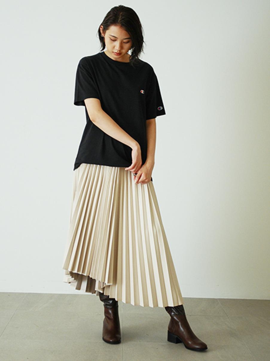 【FRAY I.D×Champion】バックロゴTシャツ(BLK-F)