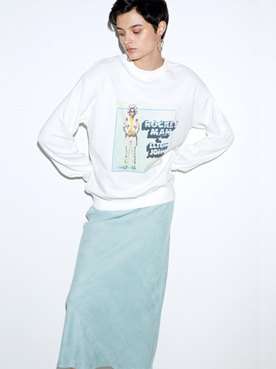 ビンテージ風ロングTシャツ(WHT-F)