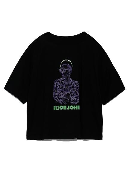 スクエアロゴTシャツ(BLK-F)
