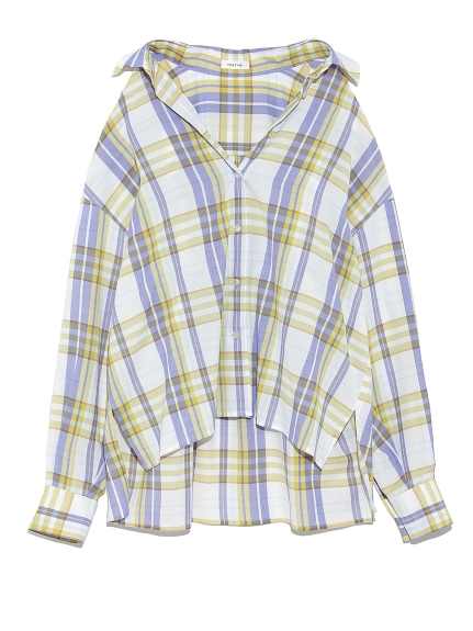 チェックシャツ(WHT-F)