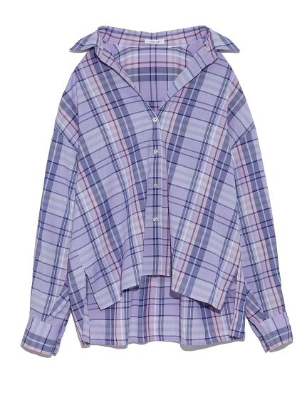 チェックシャツ(LAV-F)