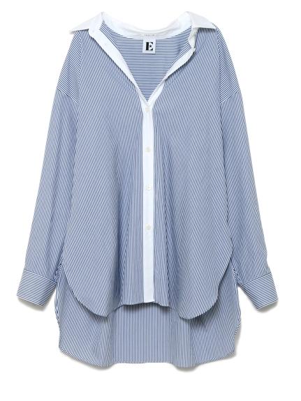 バックプリントシャツ(STRIPE-F)