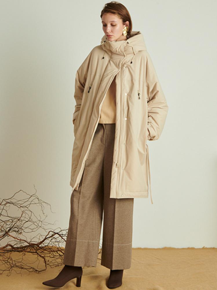ストレッチ中綿コート