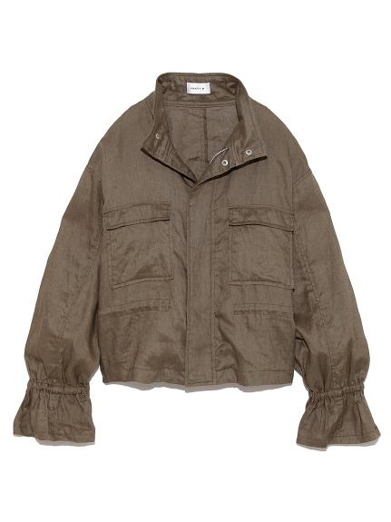 リネンショートジャケット