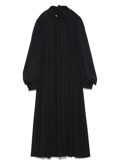 タックプリーツロングドレス
