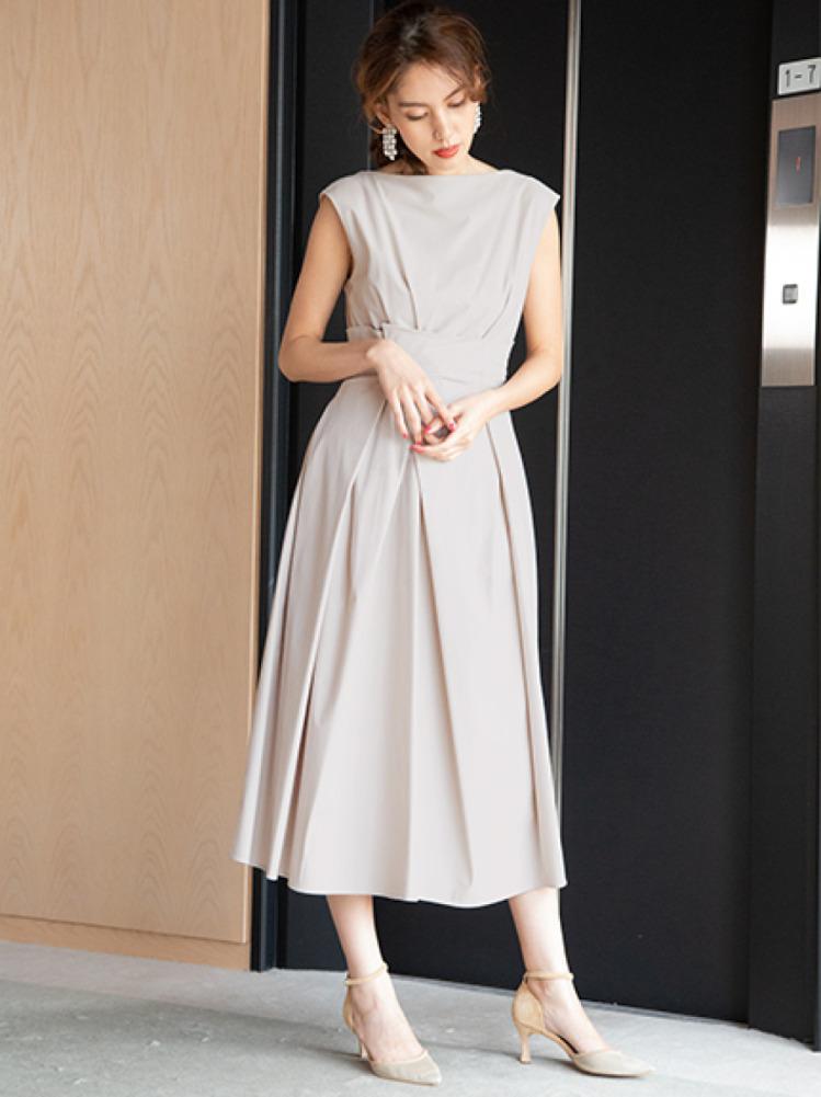 アシメクロスタックドレス