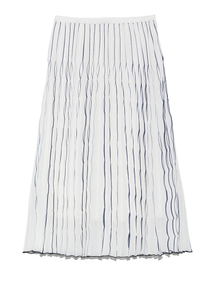 リーフプリーツスカート