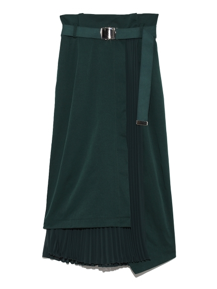 プリーツコンビタイトスカート