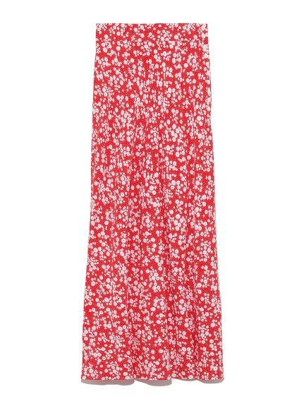 ナローフレアフラワースカート(RED-0)
