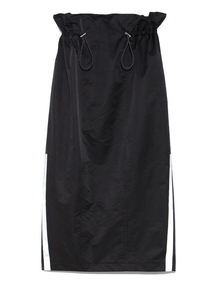 ドローストリングタフタスカート(BLK-0)