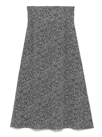 アニマルドットプリントスカート