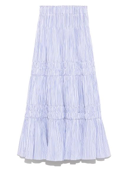 タフタギャザースカート(WHT-0)