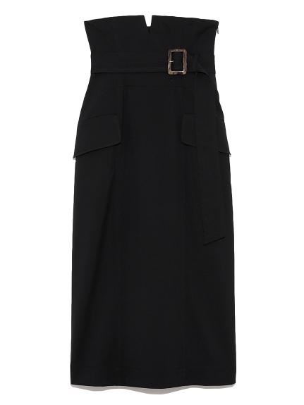 ハイウエストタイトスカート(BLK-0)