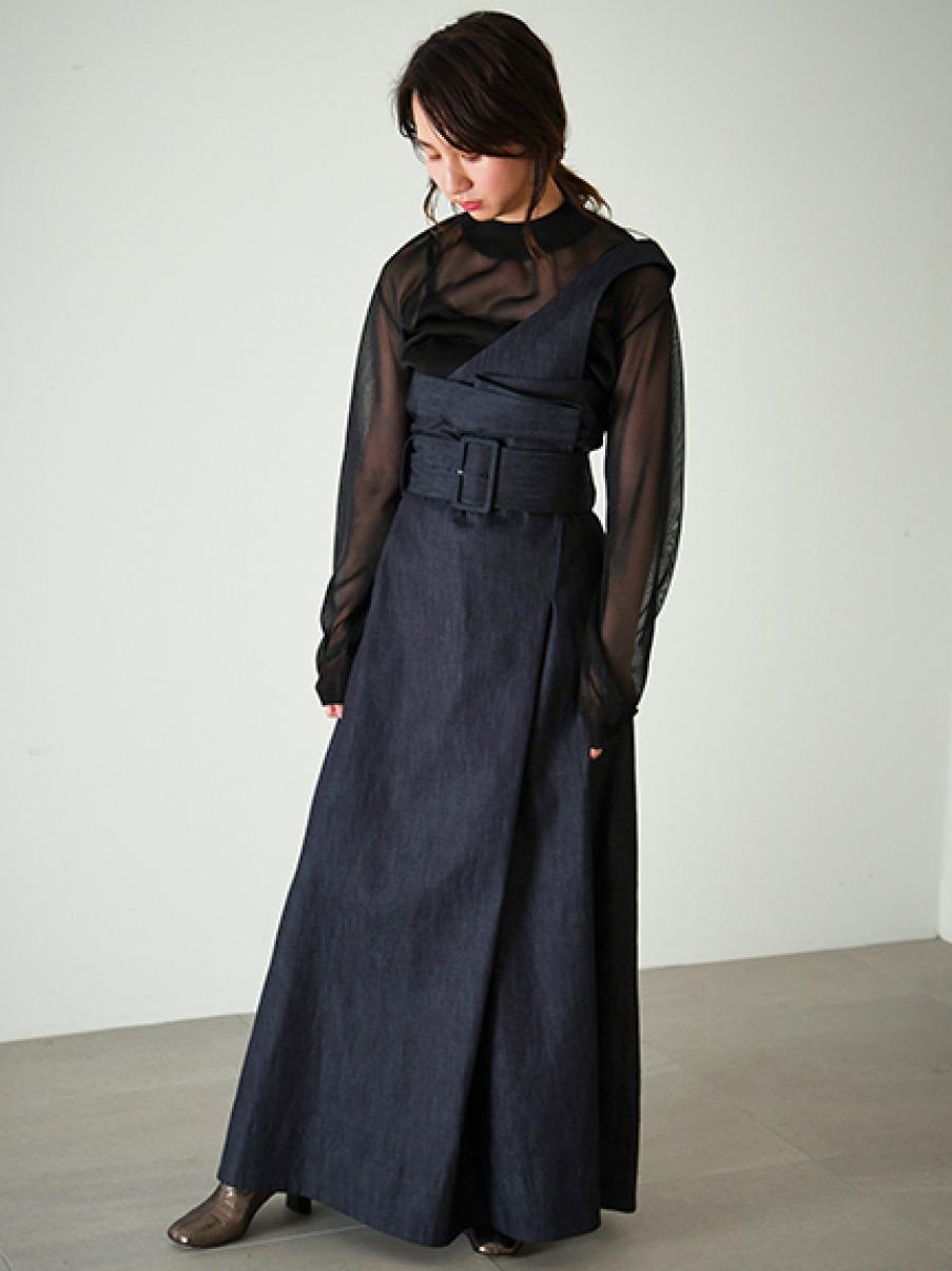 ラップ2WAYスカート(BLU-0)