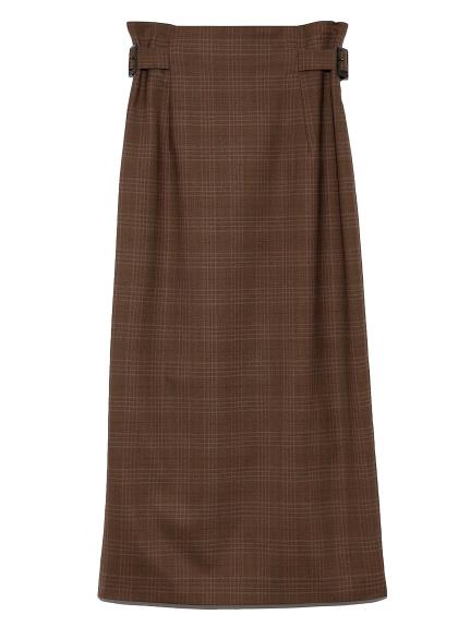 バックスリットタイトスカート(BRWxRED-0)