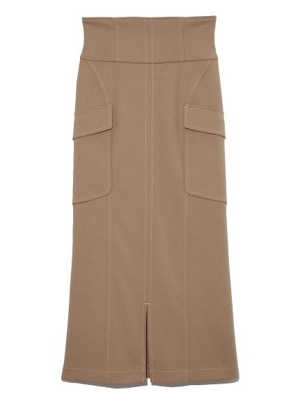 ハイウエストAラインスカート(BEG-0)
