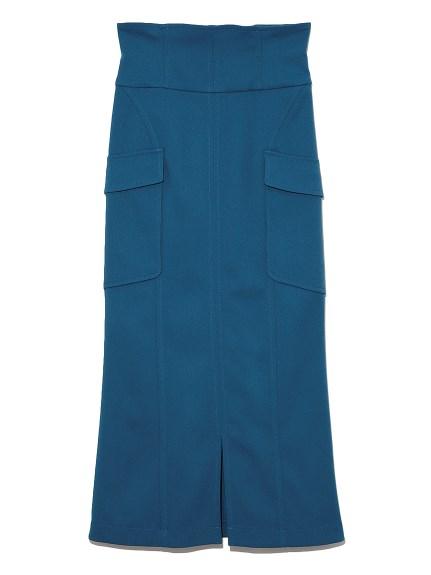 ハイウエストAラインスカート(BLU-0)