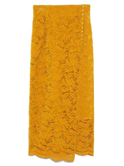 フロッキーレースタイトスカート(YEL-0)