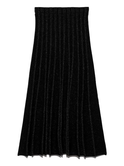 プレーティングニットスカート(BLK-F)