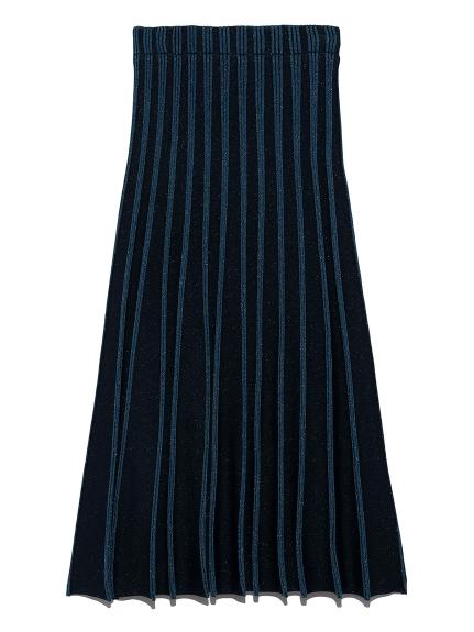 プレーティングニットスカート(BLU-F)
