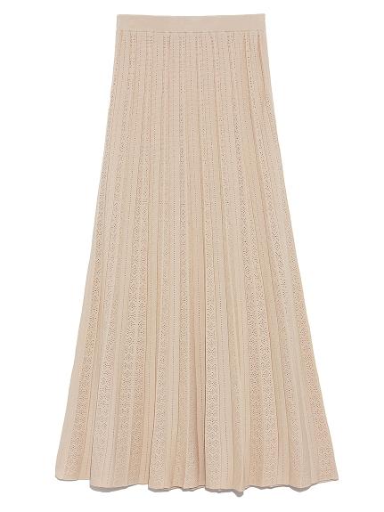 アイレットニットスカート(BEG-F)